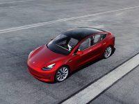Tesla, auto, červené
