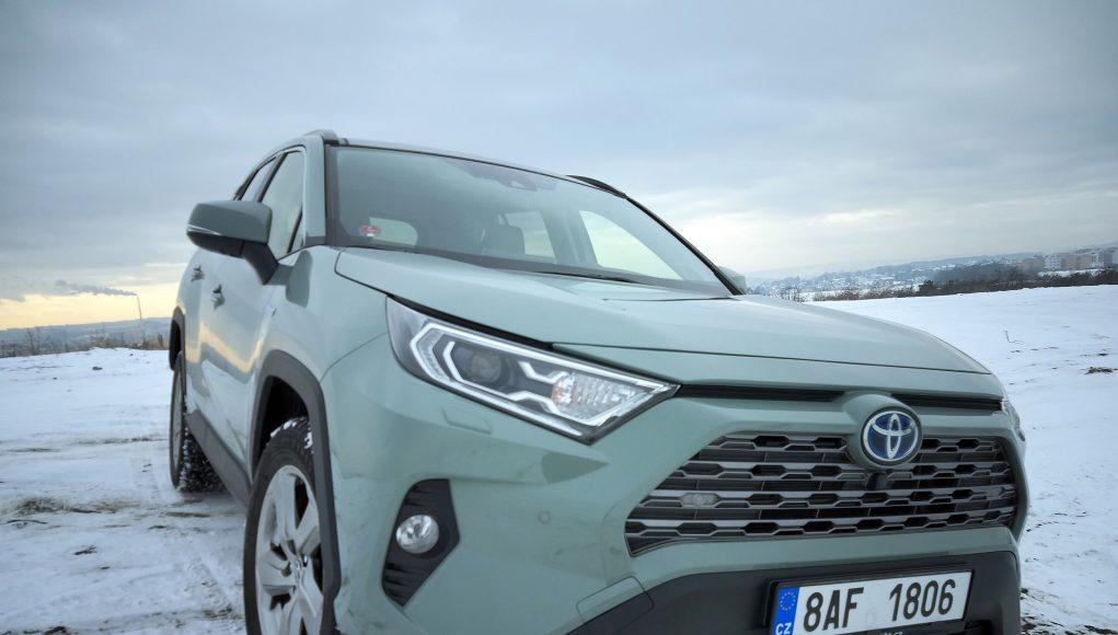 auto, zelené, SUV, Toyota, RAV4