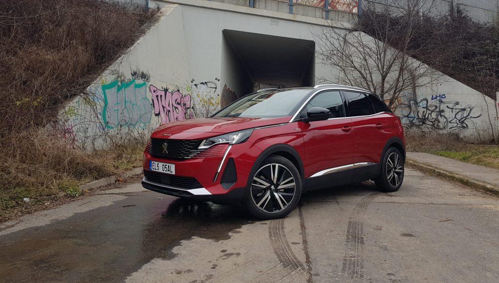 auto, červené, Peugeot