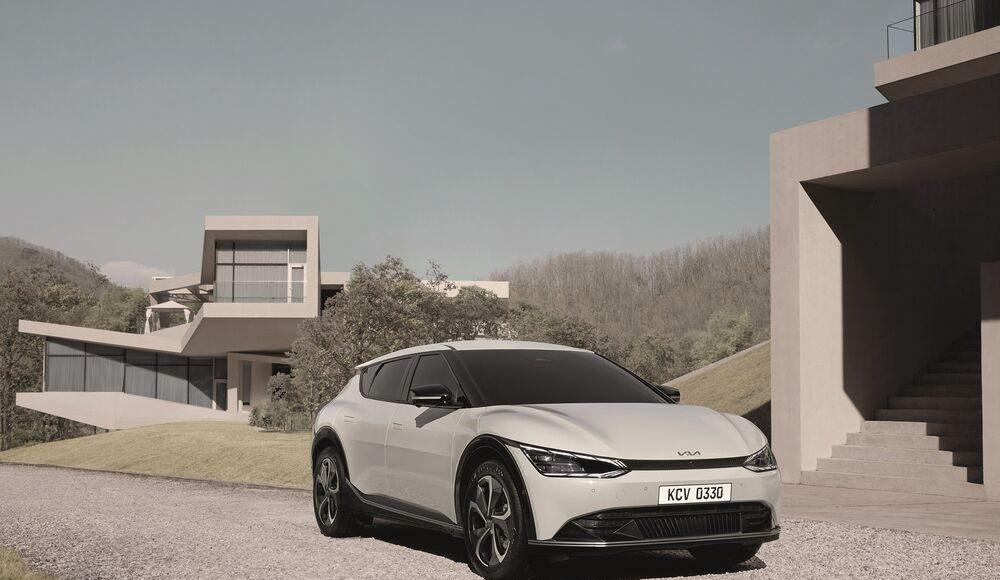 auto, elektromobil, bílé