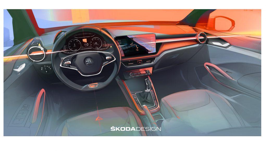 interiér, auto, Škoda, Fabia