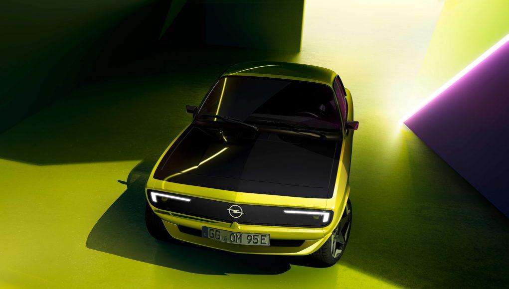 auto, žluté, elektromobil, opel, Manta