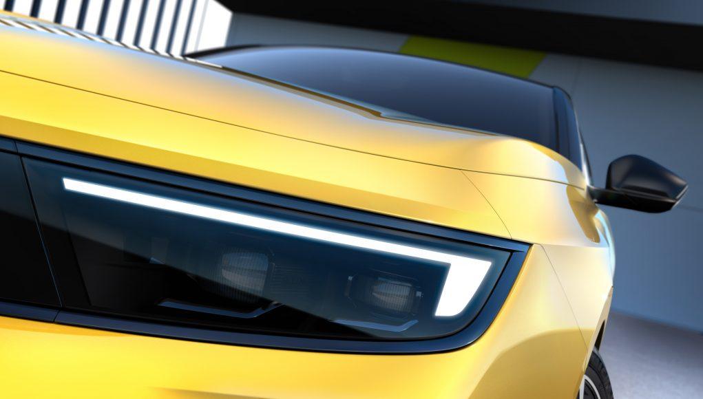 auto, žluté, opel, světlomet