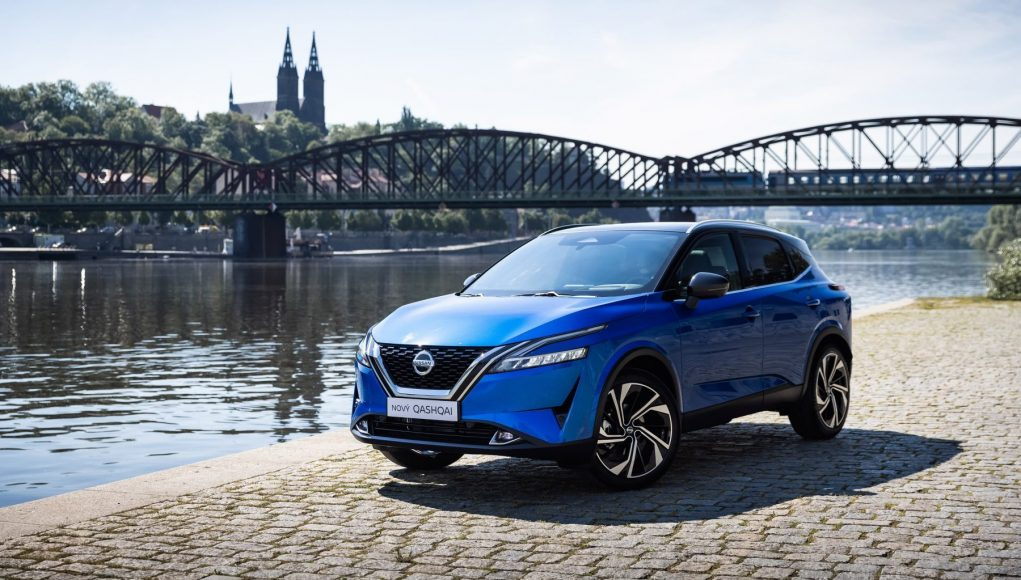 auto, modré, SUV, Nissan Qashqai
