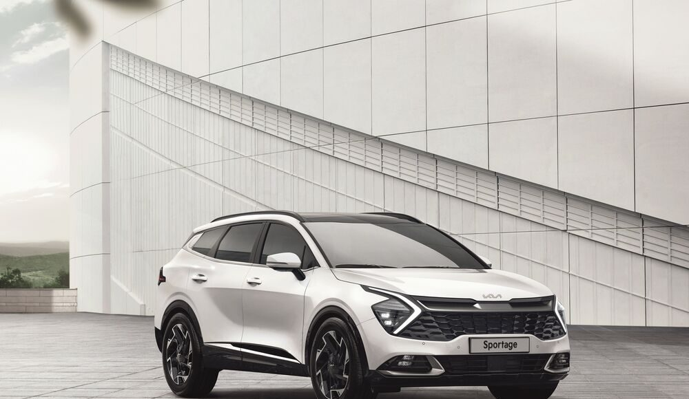 auto, bílé, SUV, Kia, Sportage