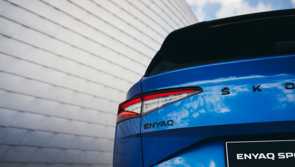 auto, modré, elektromobil, škoda