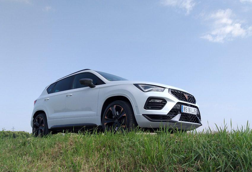 auto, bílé, Ateca Cupra