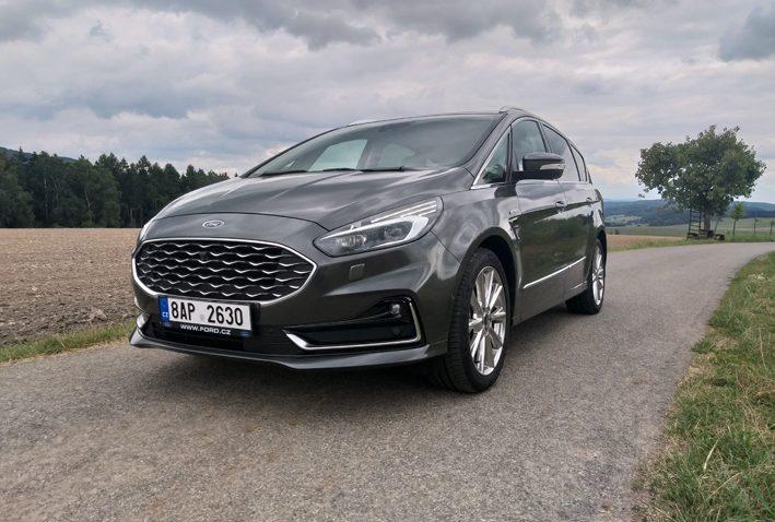 auto, šedé, Ford, S-Max